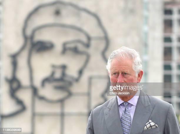 Prince Charles Prince Of Wales attends a wreath laying ceremony at the Jose Marti Memorial on March 24 2019 in Havana Cuba