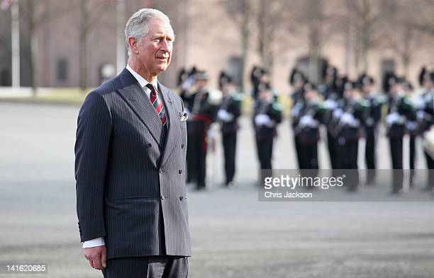 Prince Charles, Prince of Wales attends a wreath laying ceremony at the National Monument at Akershus Fortress on March 20, 2012 in Oslo, Norway....