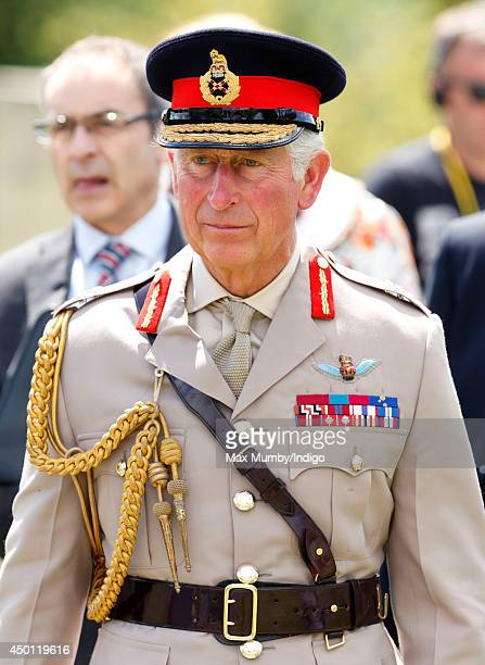 Prince Charles Prince of Wales attends a wreath laying ceremony at the Glider Pilot Memorial alongside Pegasus Bridge during the DDay 70...