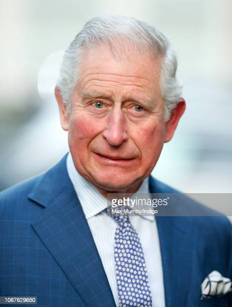 Prince Charles Prince of Wales attends an Age UK Tea celebrating 70 inspirational people marking their 70th birthday this year at Spencer House on...