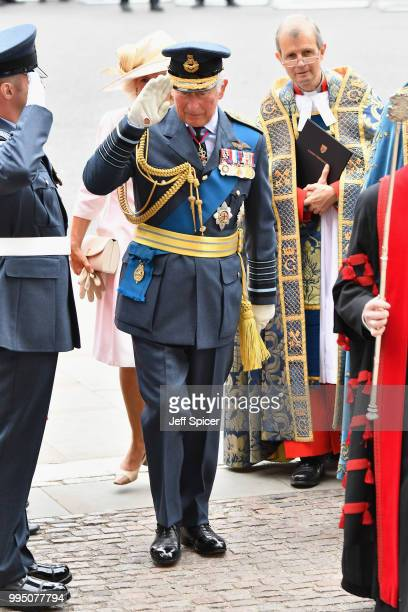 Prince Charles Prince of Wales attends as members of the Royal Family attend events to mark the centenary of the RAF on July 10 2018 in London England