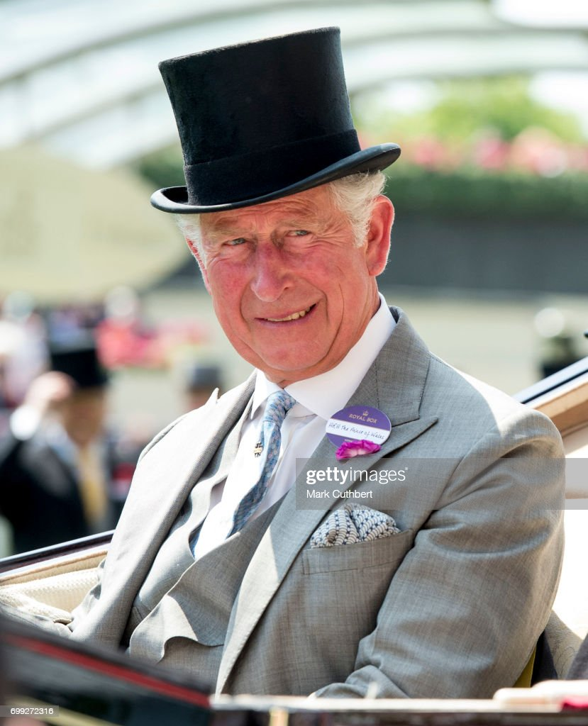 Prince Charles, Prince of Wales attends Royal Ascot 2017 at Ascot Racecourse on June 21, 2017 in Ascot, England.
