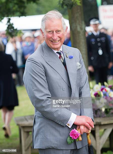 Prince Charles, Prince of Wales attends Sandringham Flower Show at Sandringham on July 29, 2015 in King's Lynn, England.