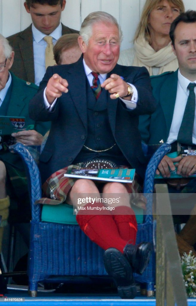 Prince Charles, Prince of Wales attends the 2017 Braemar Gathering at The Princess Royal and Duke of Fife Memorial Park on September 2, 2017 in Braemar, Scotland.