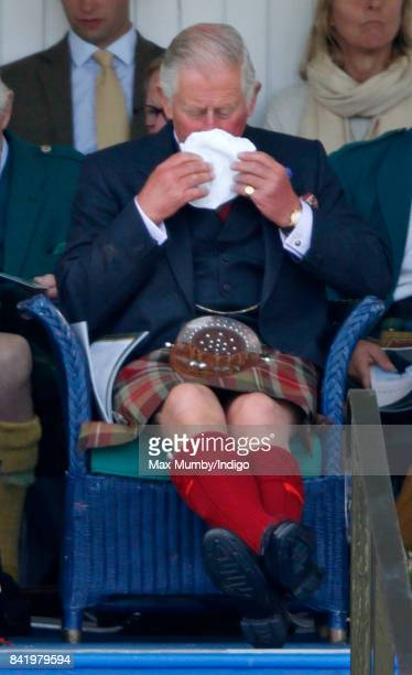 Prince Charles Prince of Wales attends the 2017 Braemar Gathering at The Princess Royal and Duke of Fife Memorial Park on September 2 2017 in Braemar...