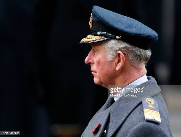 Prince Charles Prince of Wales attends the annual Remembrance Sunday Service at The Cenotaph on November 12 2017 in London England This year marks...