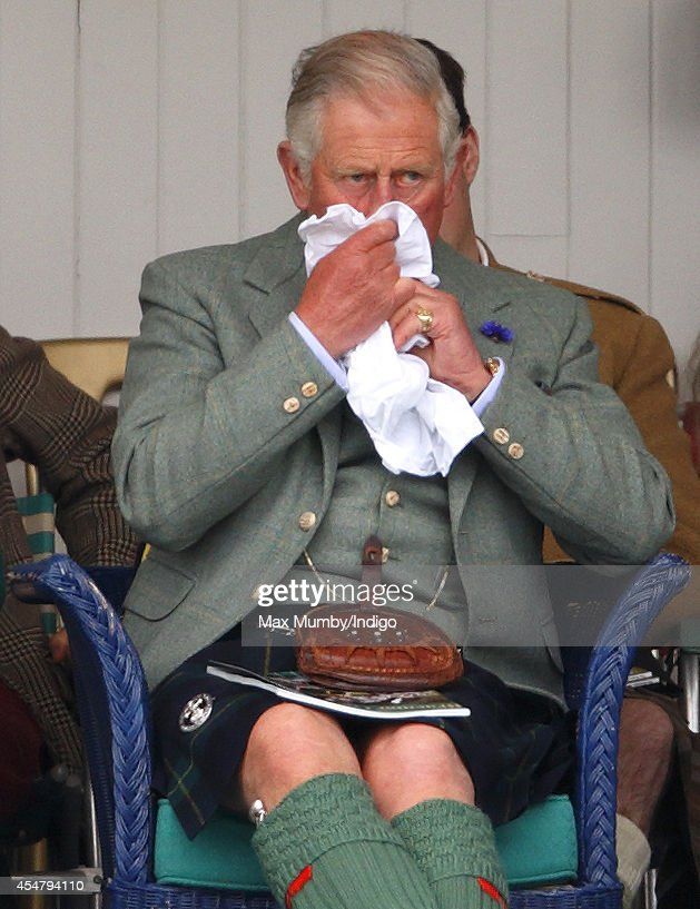 Prince Charles, Prince of Wales attends the Braemar Gathering at the The Princess Royal and Duke of Fife Memorial Park on September 6, 2014 in Braemar, Scotland. The Braemar Gathering is the most famous of the Highland Games and is known worldwide. Each year thousands of visitors descend on this small Scottish village on the first Saturday in September to watch one of the more colourful Scottish traditions. The Gathering has a long history and in its modern form it stretches back nearly 200 years.