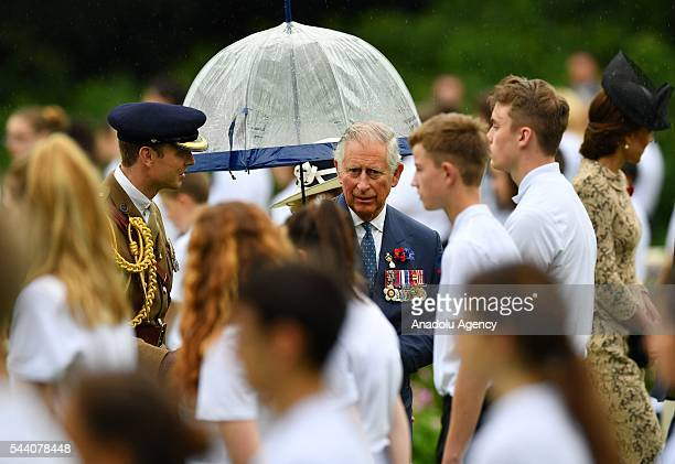 Prince Charles , Prince of Wales attends the ceremony to mark the centenary of the Battle of the Somme at the Thiepval monument, in Thiepval, near...
