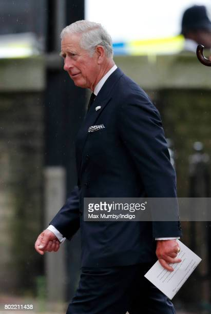 Prince Charles Prince of Wales attends the funeral of Patricia Knatchbull Countess Mountbatten of Burma at St Paul's Church Knightsbridge on June 27...