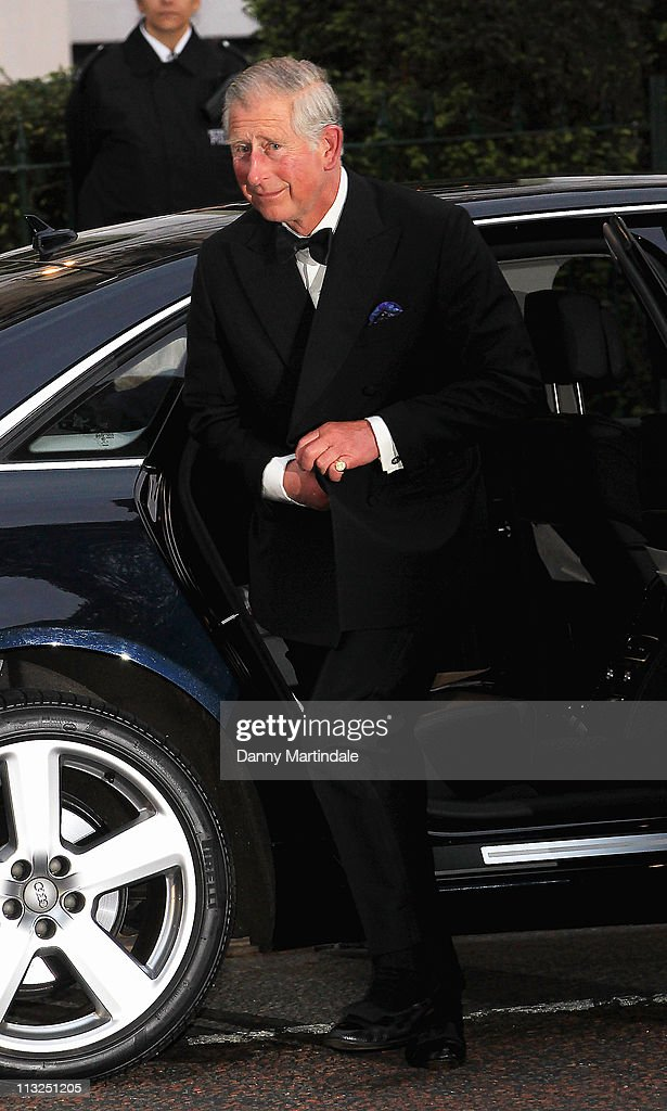 Prince Charles, Prince of Wales attends the pre-wedding dinner at Mandarin Oriental Hyde Park on April 28, 2011 in London, England.