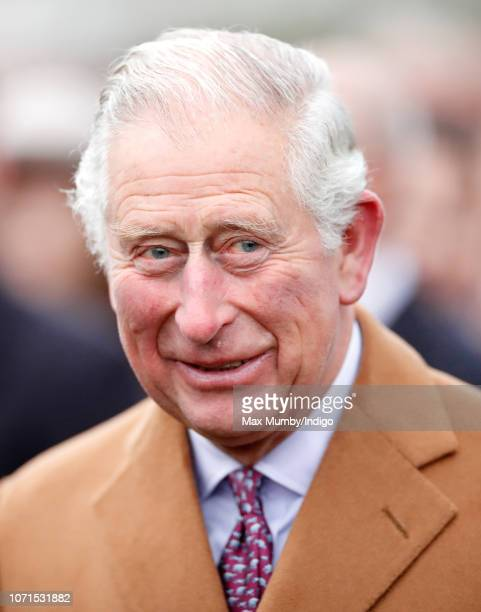 Prince Charles Prince of Wales attends The Prince's Countryside Fund Raceday at Ascot Racecourse on November 23 2018 in Ascot England
