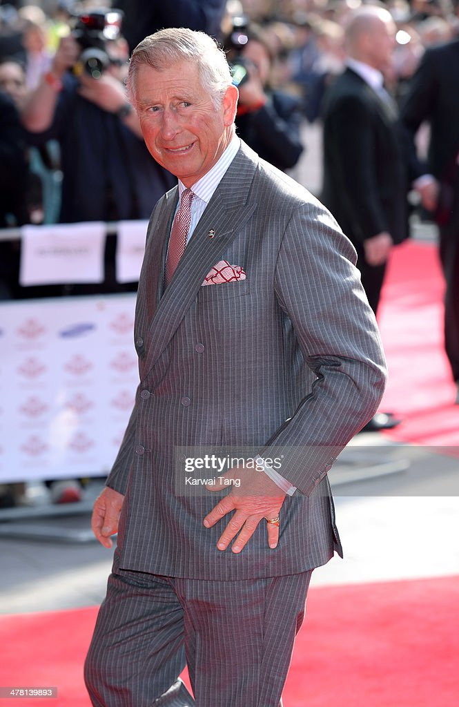 Prince Charles, Prince of Wales attends the Prince's Trust & Samsung Celebrate Success awards at Odeon Leicester Square on March 12, 2014 in London, England.