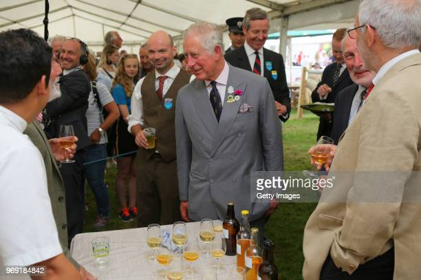 Prince Charles Prince of Wales attends The Royal Cornwall Show at The Royal Cornwall Showground on June 7 2018 in Wadebridge England