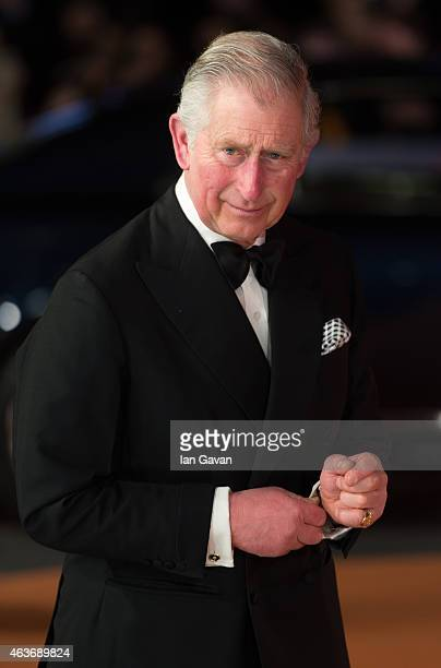 """Prince Charles, Prince of Wales attends The Royal Film Performance and World Premiere of """"The Second Best Exotic Marigold Hotel"""" at Odeon Leicester..."""