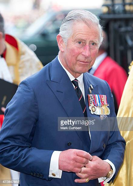 Prince Charles, Prince of Wales attends the VE Day 70th Anniversary sevice at Westminster Abbey on May 10, 2015 in London, England.