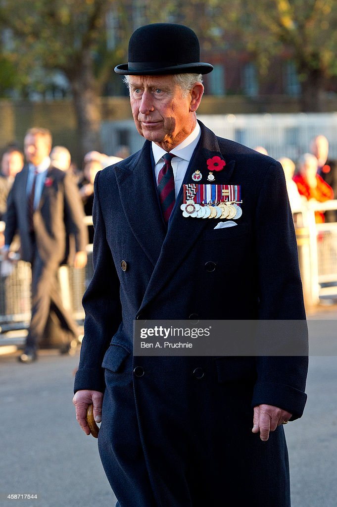 Prince Charles, Prince of Wales Attends The Welsh Guards Regimental Remembrance Sunday : News Photo