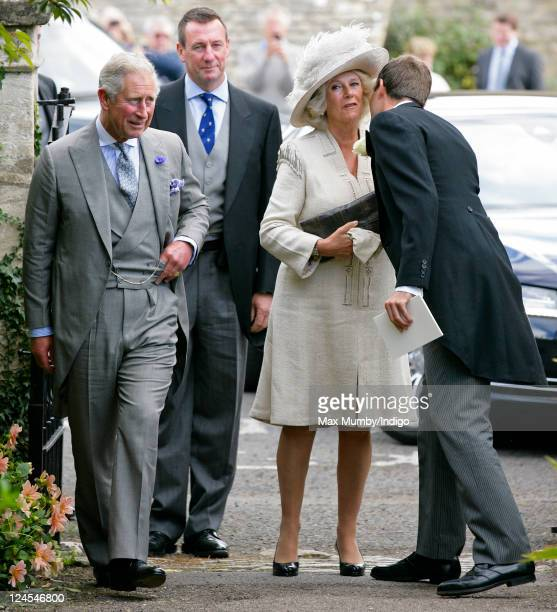 Prince Charles Prince of Wales Camilla Duchess of Cornwall and Ben Goldsmith attend the wedding of Ben Elliot and MaryClare Winwood at the church of...