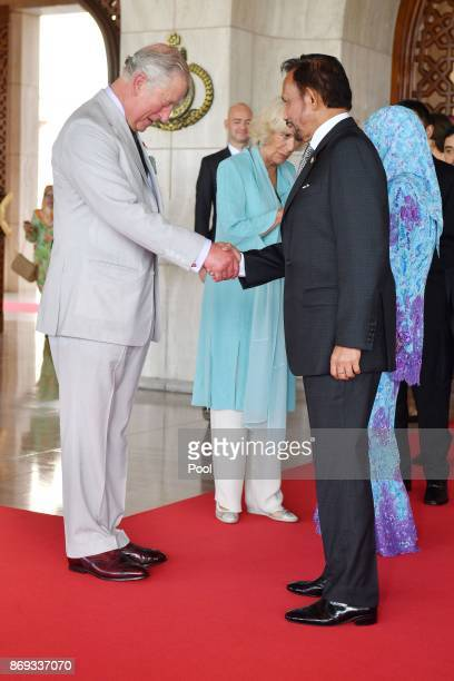 Prince Charles Prince of Wales Camilla Duchess of Cornwall and his Majesty Hassanal Bolkiah The Sultan of Brunei and Her Majesty Raja Isteri attend...