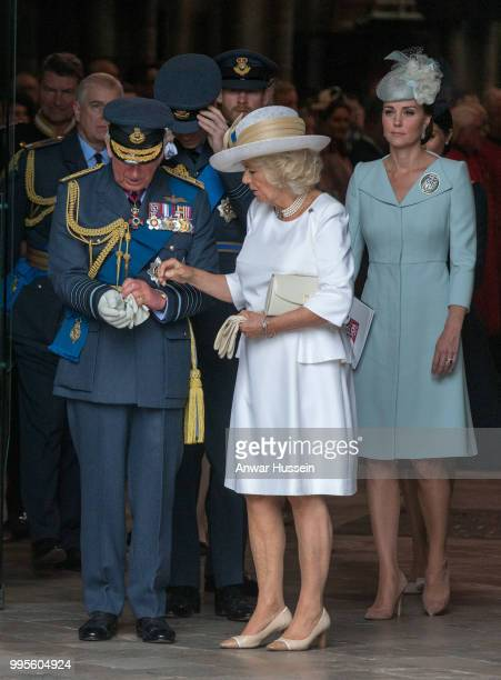 Prince Charles Prince of Wales Camilla Duchess of Cornwall and Catherine Duchess of Cambridge attend a service at Westminster Abbey to mark the...