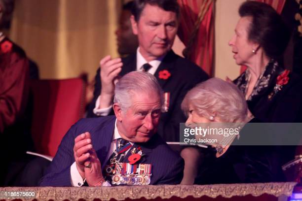 Prince Charles Prince of Wales Camilla Duchess of Cornwall and Sir Tim Laurence and Princess Anne Princess Royal attend the annual Royal British...