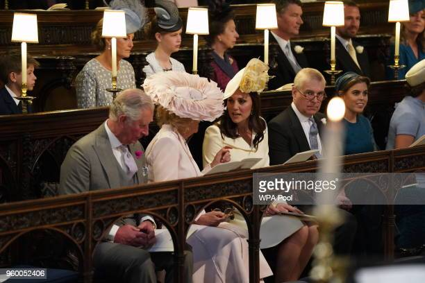 Prince Charles Prince of Wales Camilla Duchess of Cornwall Catherine Duchess of Cambridge Prince Andrew Duke of York and Princess Beatrice attend the...