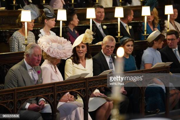 Prince Charles Prince of Wales Camilla Duchess of Cornwall Catherine Duchess of Cambridge Prince Andrew Duke of York Princess Beatrice Princess...
