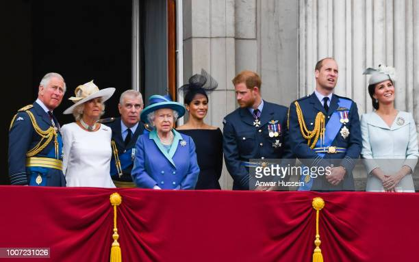 Prince Charles Prince of Wales Camilla Duchess of Cornwall Prince Andrew Duke of York Queen Elizabeth ll Meghan Duchess of Sussex Prince Harry Duke...
