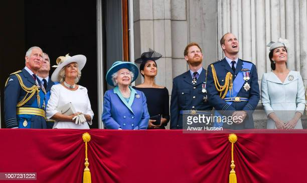 Prince Charles, Prince of Wales, Camilla, Duchess of Cornwall, Prince Andrew, Duke of York, Queen Elizabeth ll, Meghan, Duchess of Sussex, Prince...