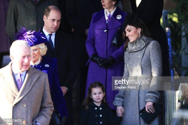 Prince Charles, Prince of Wales, Camilla, Duchess of Cornwall, Prince William, Duke of Cambridge, Princess Charlotte and Catherine, Duchess of...