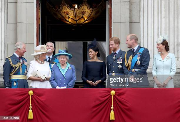 Prince Charles, Prince of Wales, Camilla, Duchess of Cornwall, Prince Andrew, Duke of York, Queen Elizabeth II, Meghan, Duchess of Sussex, Prince...