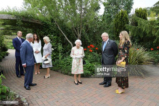 Prince Charles, Prince of Wales, Camilla, Duchess of Cornwall, Queen Elizabeth II, Prince William, Duke of Cambridge, Catherine, Duchess of...
