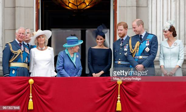 Prince Charles, Prince of Wales, Camilla, Duchess of Cornwall, Queen Elizabeth II, Meghan, Duchess of Sussex, Prince Harry, Duke of Sussex, Prince...