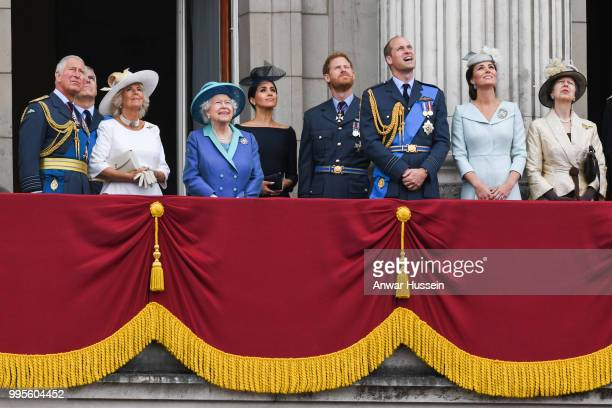 Prince Charles Prince of Wales Camilla Duchess of Cornwall Queen Elizabeth ll Meghan Duchess of Sussex Prince Harry Duke of Sussex Prince William...