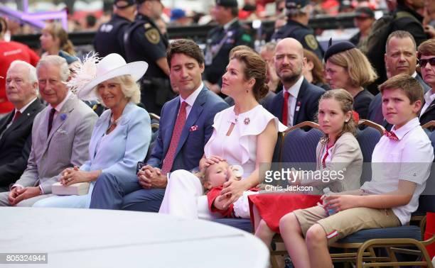 Prince Charles, Prince of Wales, Camilla, Duchess of Cornwall, Sophie Grégoire Trudeau, Justin Trudeau, Hadrien Trudeau, Ella-Grace Trudeau and...