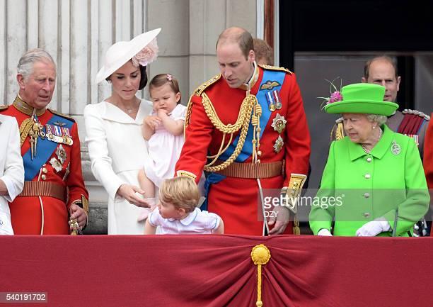 Prince Charles, Prince of Wales, Catherine, Duchess of Cambridge, Princess Charlotte of Cambridge, Prince George of Cambridge, Prince William, Duke...