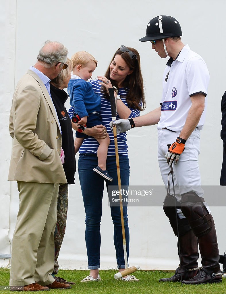 The Duke Of Cambridge And Prince Harry Play In Charity Polo Match : News Photo