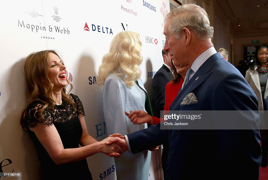 Prince Charles, Prince of Wales chats with Geri Horner and Rita Ora during the Prince's Trust Celebrate Success Awards at the London Palladium on March 7, 2016 in London, England.