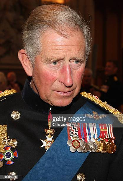 Prince Charles, Prince of Wales chats with Iraq Veterans during a reception at London Guildhall after a Service of Commemoration to mark the end of...