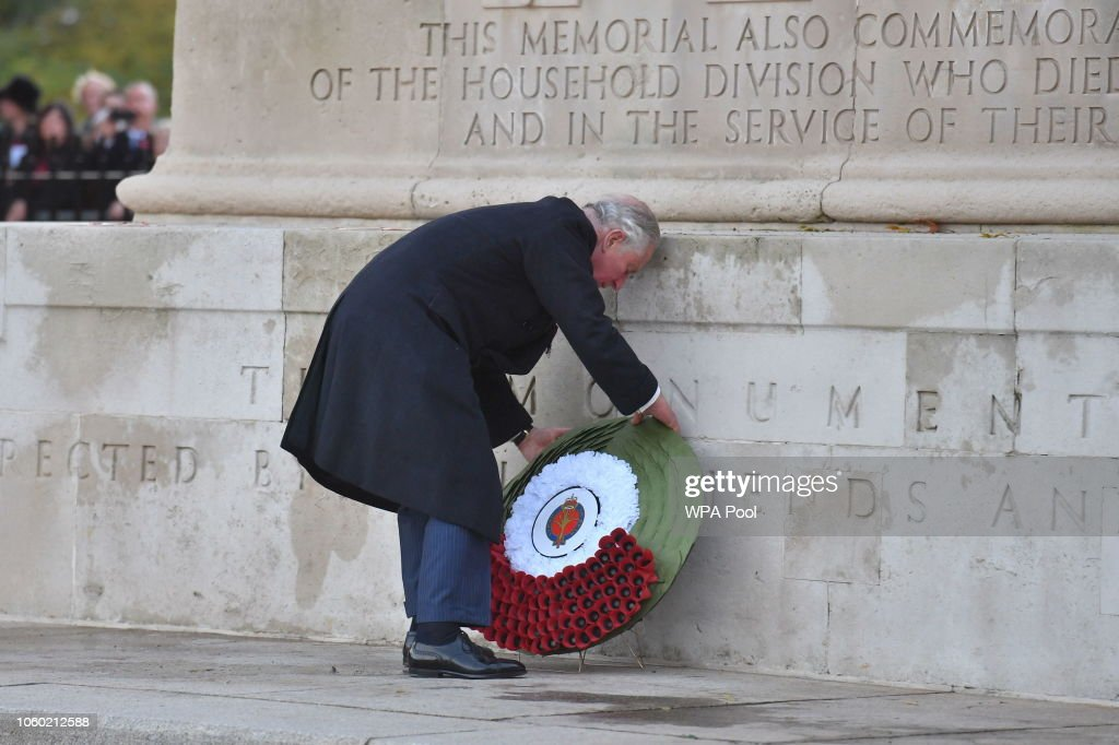 Prince Of Wales Attends Remembrance Service At Guards Chapel : News Photo