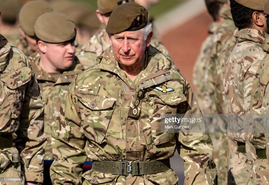 GBR: The Prince Of Wales Presents Campaign Medals To The 1st Battalion Welsh Guards