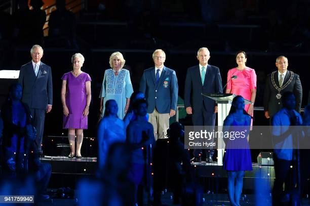 Prince Charles Prince of Wales Commonwealth Games Federation President Louise Martin Camilla the Duchess of Cornwall 2018 Gold Coast Commonwealth...