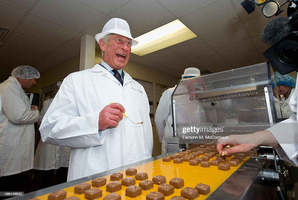 The Prince Of Wales Visits 'The House Of Dorchester' Chocolate Makers In Poundbury : News Photo