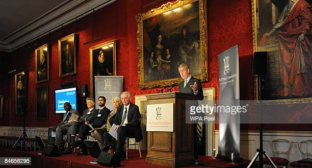 Prince Charles Prince of Wales delivers a speech at a conference organised by his charity the Prince's Foundation for the Built Environment on...