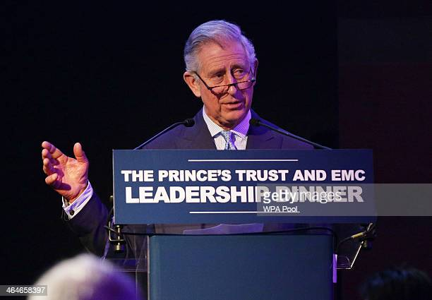 Prince Charles, Prince of Wales delivers a speech, during a leadership reception hosted by The Prince's Trust at The Royal Courts of Justice on...