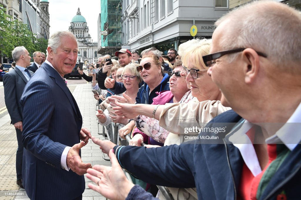 GBR: The Prince Of Wales & Duchess Of Cornwall Visit Northern Ireland