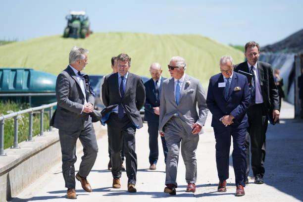 GBR: The Prince of Wales Visits J V Energen At Rainbarrow Farm, Poundbury