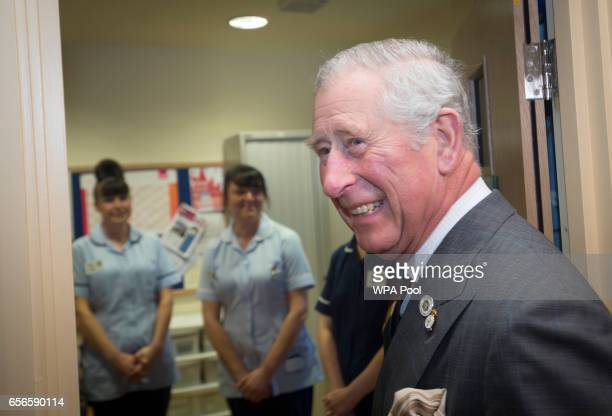 Prince Charles Prince of Wales during a visit to the The Prince of Wales Hospice on March 22 2017 in Pontefract United Kingdom