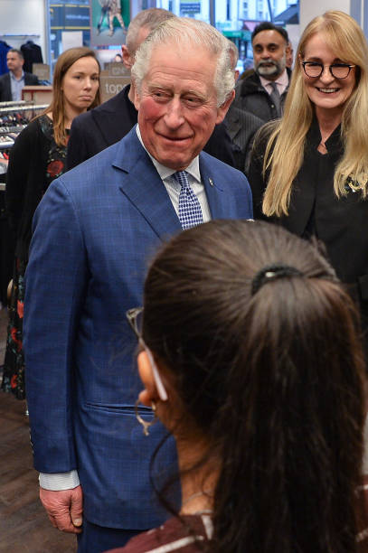 GBR: The Prince Of Wales Meets Prince's Trust Young People At TK Maxx Tooting