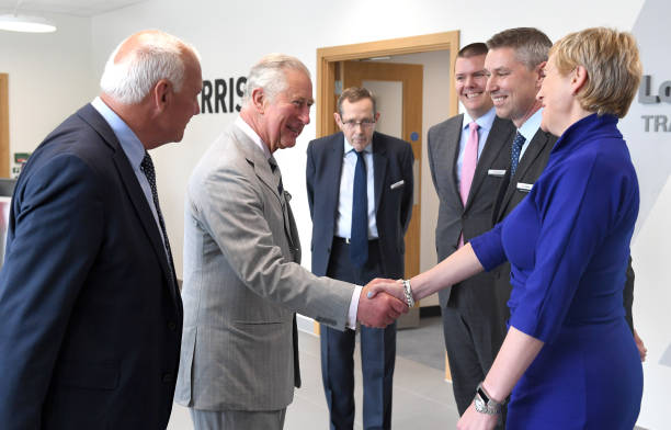 GBR: The Prince Of Wales Visits L3HArris Technologies' London Training Centre