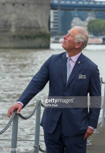 Prince Charles Prince of Wales during his visit to the newly refurbished 'Maiden' Yacht on September 5 2018 in London England The Yacht was famously...